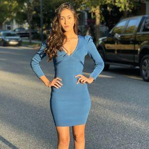 NWT long sleeves blue dress. Up to size Medium